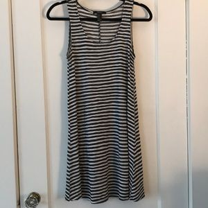Black and white stripped knit dress